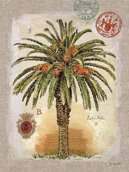 Linen Date Palm Tree-Chad Barrett-Art Print