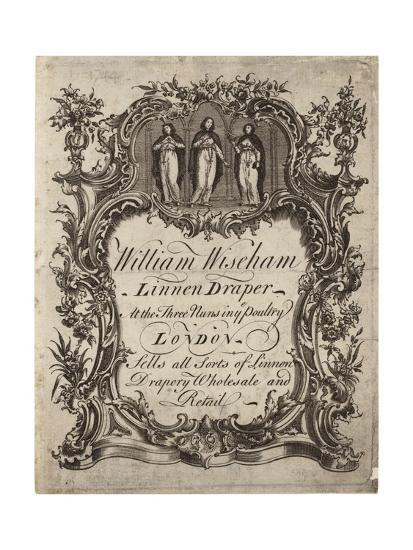 Linen Draper, William Wiseham, Trade Card--Giclee Print