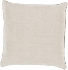 Linen Piped Pillow Cover - Ivory
