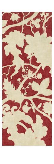 Linen Silhouette on Red I-Chariklia Zarris-Art Print