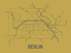 Berlin (Ochre & Gunmetal Gray) by LinePosters