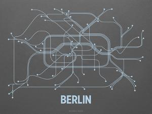 Berlin Screen Print Dark Gray by LinePosters