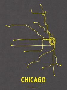 Chicago (Dark Gray & Yellow) by LinePosters