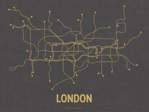 London (Dark Gray & Mustard) by LinePosters
