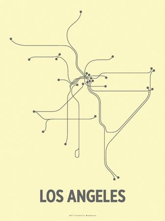 Los Angeles (Light Yellow & Dark Gray)