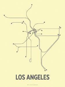 Los Angeles (Light Yellow & Dark Gray) by LinePosters