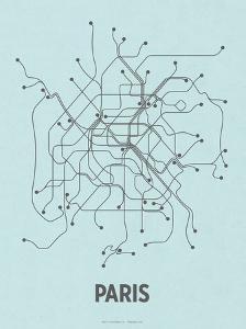 Paris (Light Blue & Dark Gray) by LinePosters