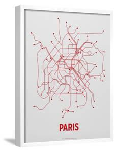 Paris Screen Print Light Gray by LinePosters