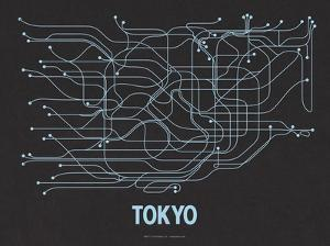 Tokyo (Black Licorice & Light Blue) by LinePosters