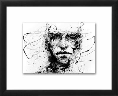 Lines Hold The Memories-Agnes Cecile-Framed Float Mount