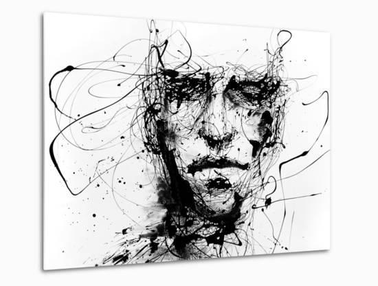 Lines Hold The Memories-Agnes Cecile-Metal Print