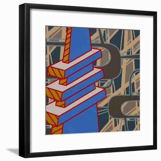 Lines Project 69-Eric Carbrey-Framed Giclee Print
