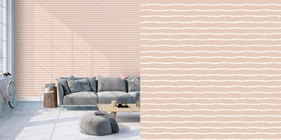 Lines Rose & White Self-Adhesive Wallpaper by Bobby Berk