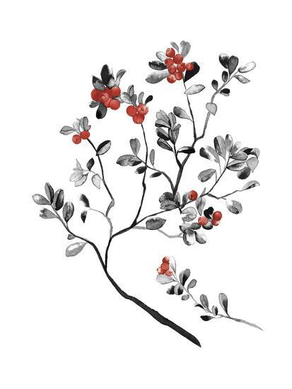 Lingonberry Branch--Giclee Print
