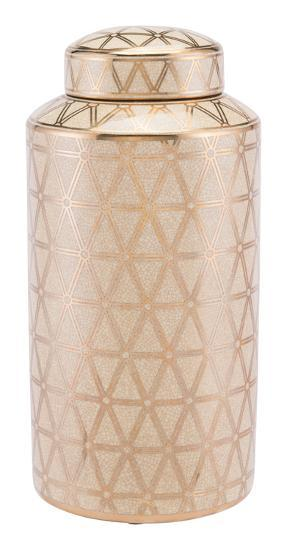 Link Covered Jar Lg Gold And Yellow--Home Accessories