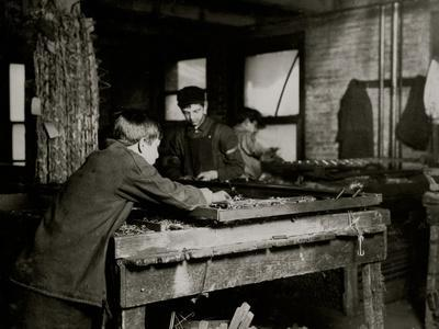 Linking Bed Springs-Lewis Wickes Hine-Photo