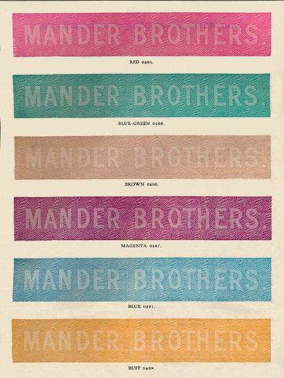 'Linotype Practise - Mander Brothers advert', 1910-Unknown-Giclee Print