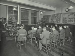 Linotype Students at Work, Camberwell School of Arts and Crafts, London, 1930