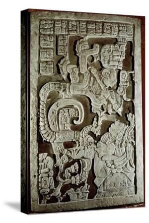 Lintel 25 of Yaxchilan Structure 23, Showing Accession Rituals of the Ruler Shield Jaguar…