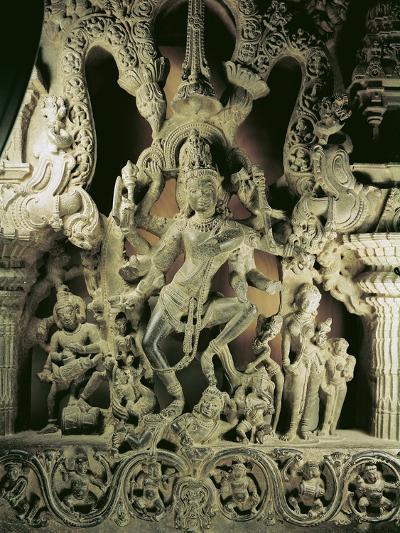 Lintel with Shiva Nataraja, Kakatiya Dynasty--Giclee Print