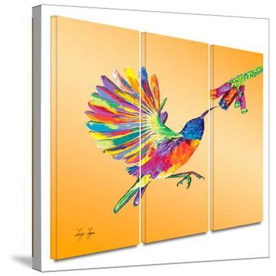 Humming 3 piece gallery-wrapped canvas