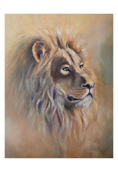 Lion 1-Lena Navarro-Art Print