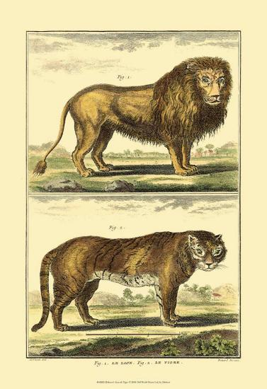 Lion and Tiger-Denis Diderot-Art Print