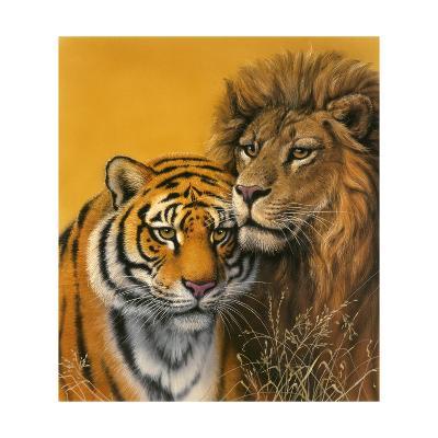 Lion and Tiger-Harro Maass-Giclee Print