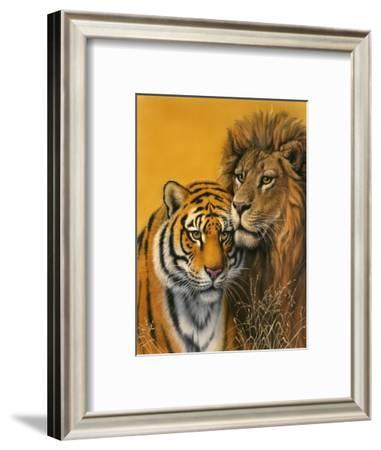 Lion and Tiger-Harro Maass-Framed Giclee Print