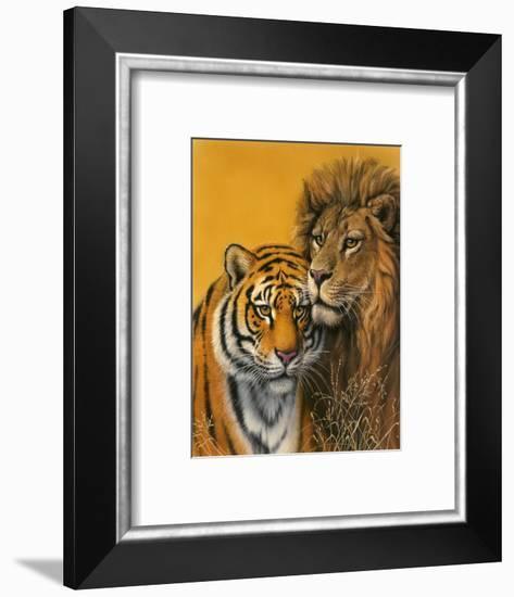Lion and Tiger-Harro Maass-Framed Giclee Print
