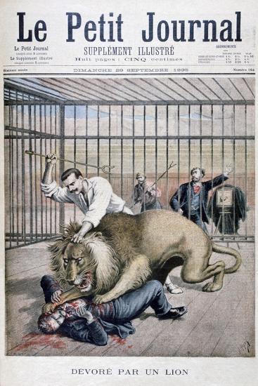 Lion Attack, 1895-Henri Meyer-Giclee Print