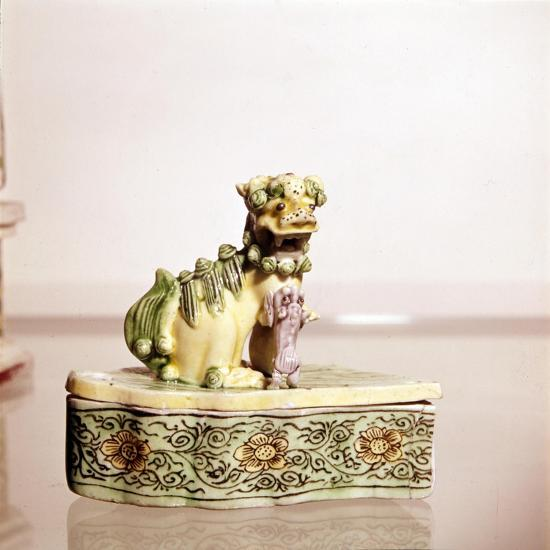 Lion, Chinese Porcelain-Unknown-Giclee Print