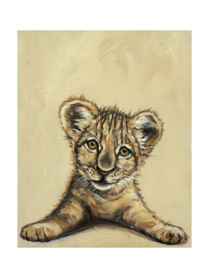 Lion Eyes-Louise Brown-Art Print
