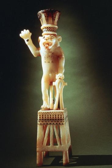 Lion Figurine from the Tomb of Tutankhamen, 14th Century BC--Photographic Print