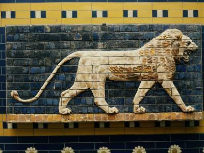 Lion, Glazed Brick Relief, 604-562 BC, Neo-Babylonian--Photographic Print