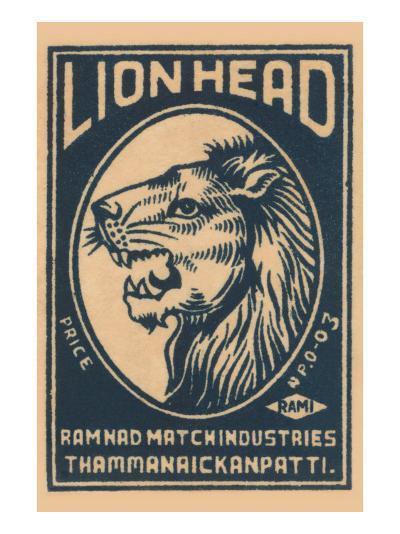 Lion Head--Art Print