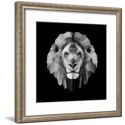 Lion Head-Lisa Kroll-Framed Premium Giclee Print