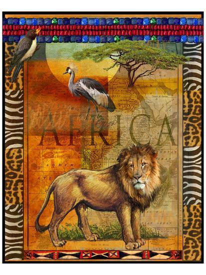 Lion I-Chris Vest-Art Print