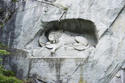 Lion Monument by Lucas Ahorn for Swiss Soldiers Who Died in the French Revolution-Christian Kober-Photographic Print