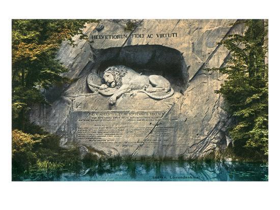 Lion Monument, Lucerne, Switzerland--Art Print