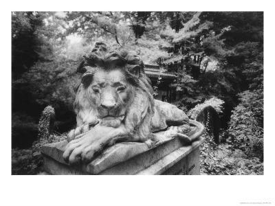 Lion Monument to Richard Charles Bostock, Abney Park Cemetery, London, England-Simon Marsden-Giclee Print