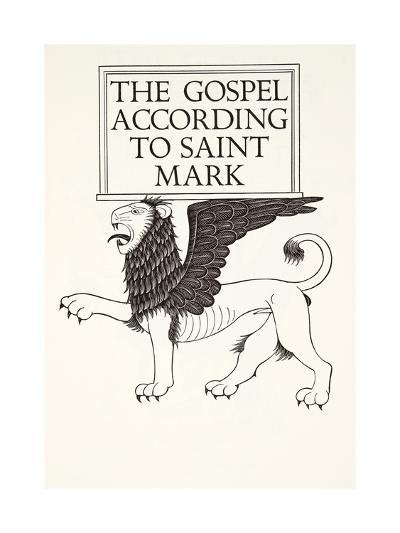 Lion of St Mark, 1931-Eric Gill-Giclee Print