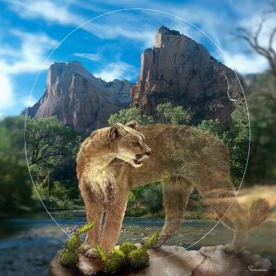 Lion of Zion-Gordon Semmens-Giclee Print