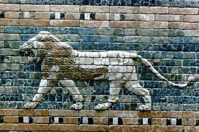 Lion Passant from Wall of the Sacred Way to the Ishtar Gate, Babylon (Ira), C575 BC--Giclee Print