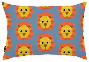 Lion Pattern Throw Pillow