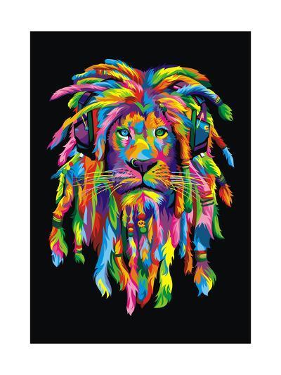 Lion Rasta-Bob Weer-Giclee Print