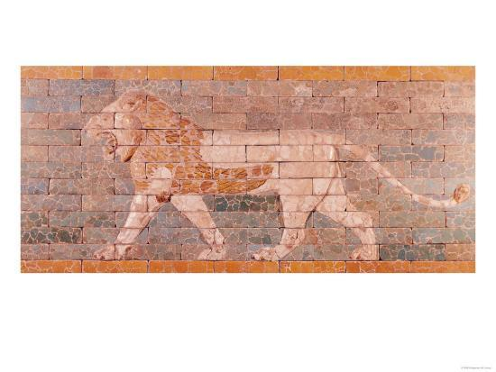 Lion Representing Ishtar, Frieze from the Processional Way Leading to the Great Temple at Babylon--Giclee Print