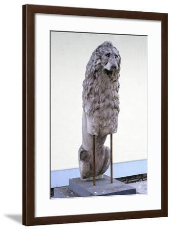 Lion, Symbol of the Royal House of Macedonia, 9th-4th Century Bc--Framed Photographic Print