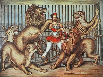 Lion Tamer, C.1880--Giclee Print