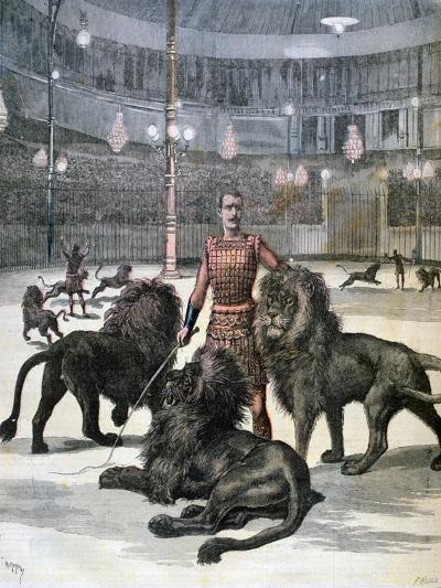 Lion Taming at the L'Hippodrome, Paris, 1891-Henri Meyer-Giclee Print